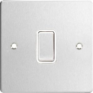 brushed steel switch plate